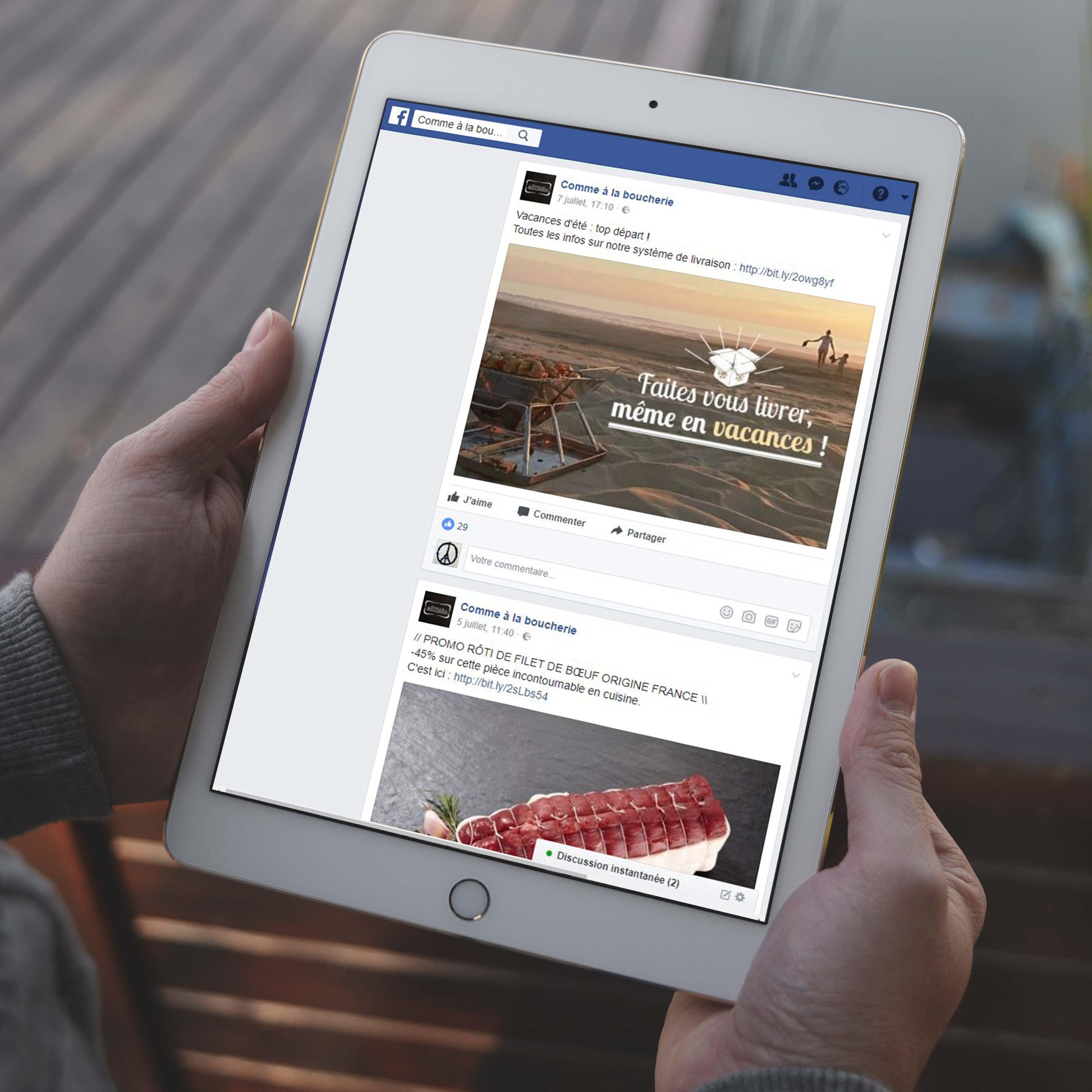 Création et gestion de contenu Facebook