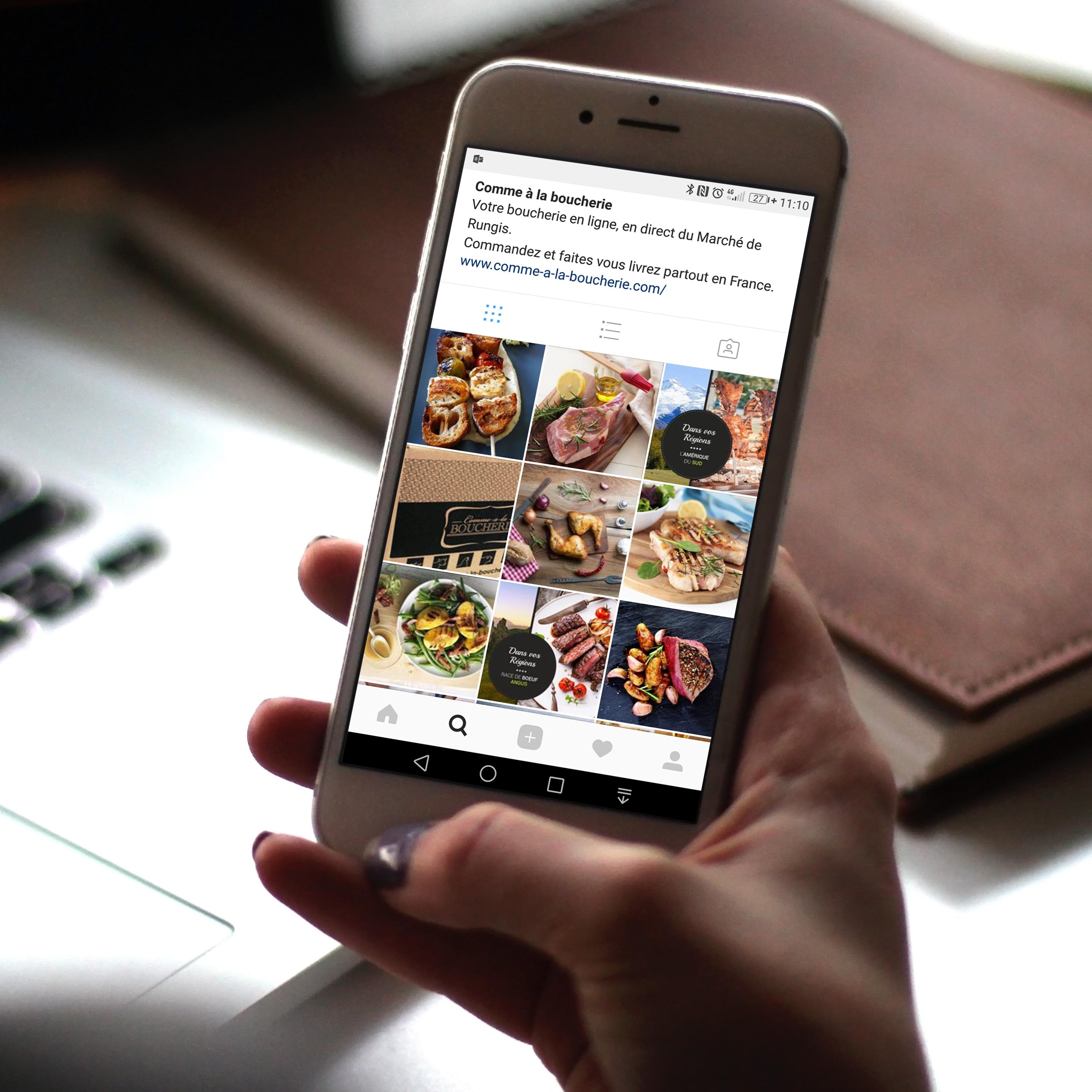 Création et gestion de contenu Instagram