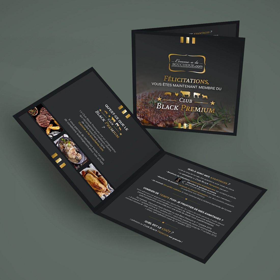 Création packaging identité visuelle Comme à la Boucherie