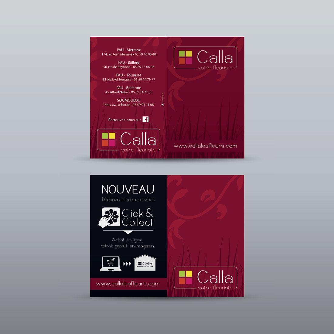Création carte de visite flyer