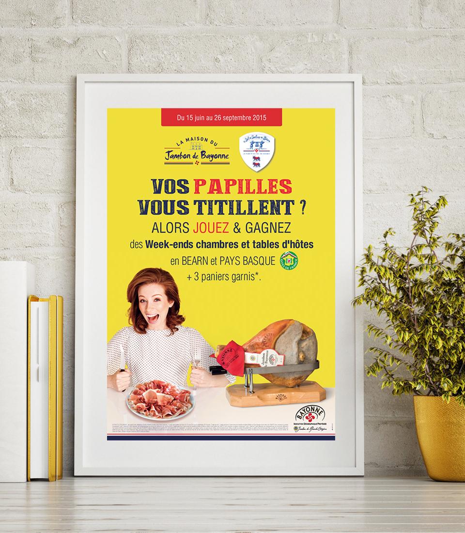 Maison du Jambon de Bayonne : Création du site marchand. Webmarketing.