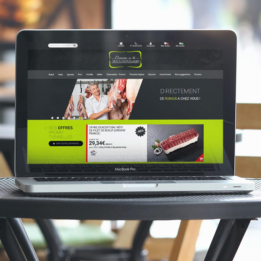Création site internet e-commerce Comme à la Boucherie