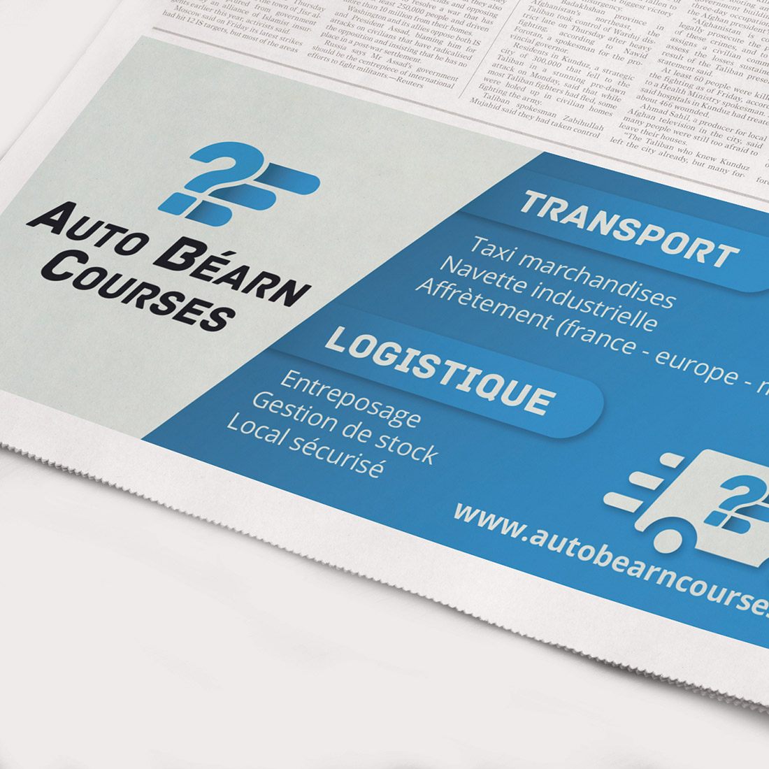 Création identité visuelle Auto Béarn Courses