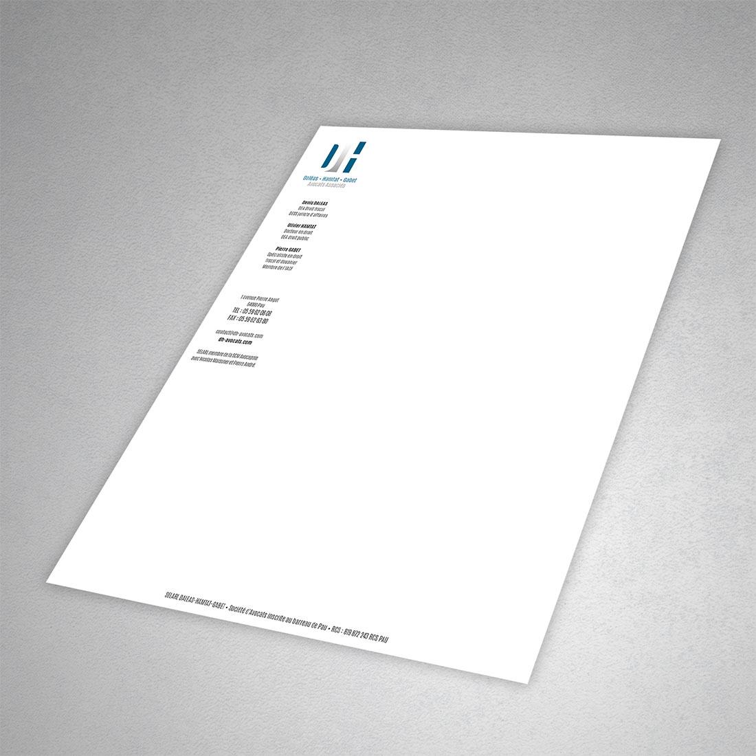 Cabinet d'avocat à Pau. Création du logo. Création de la charte graphique.