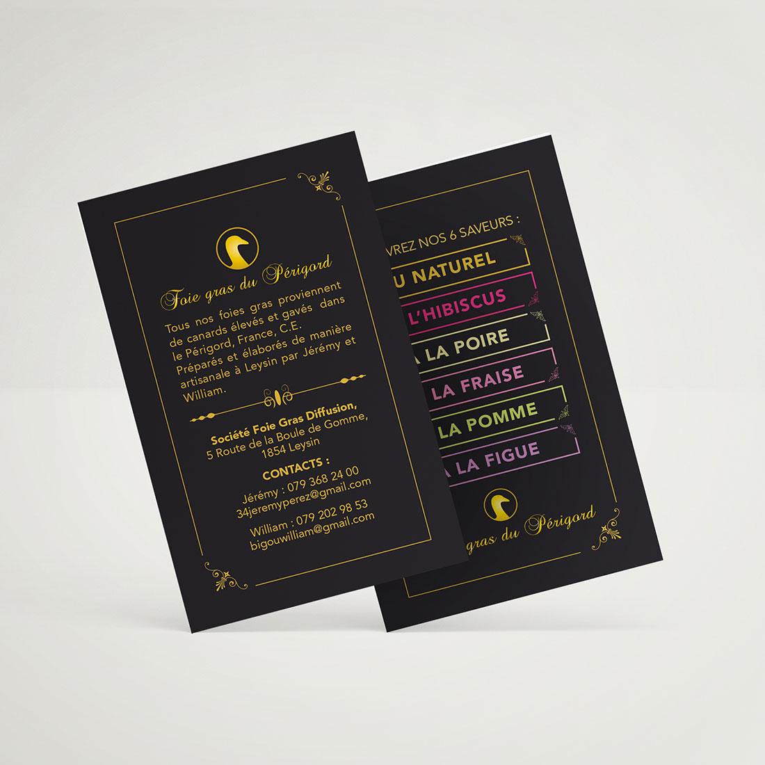 Foie Gras du Périgord – Producteur de foie gras Création logo et identité visuelle. Création d'un packaging, décliné sur la gamme. création plaquette