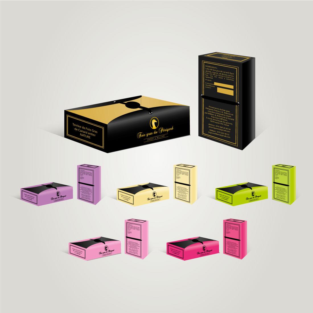 Foie Gras du Périgord – Producteur de foie gras Création d'un packaging, décliné sur la gamme