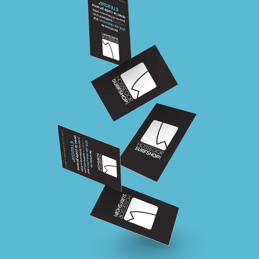 Création identité visuelle carte de visite surf shop