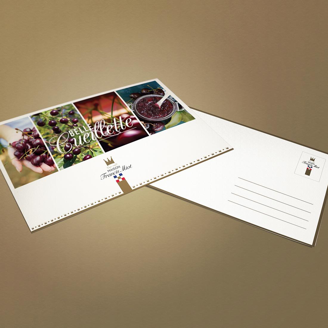 Françis Miot, maître artisan confiturier, confiseur. Print : plaquette, cartes de visite, affichage, flyers.