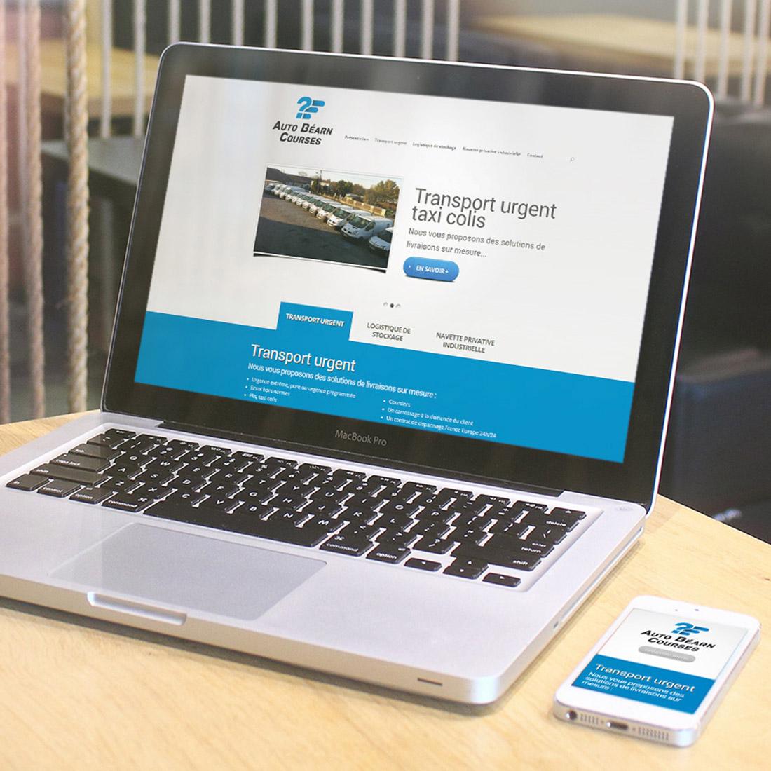 Création site web. Création identité visuelle logo AUTO BEARN COURSES