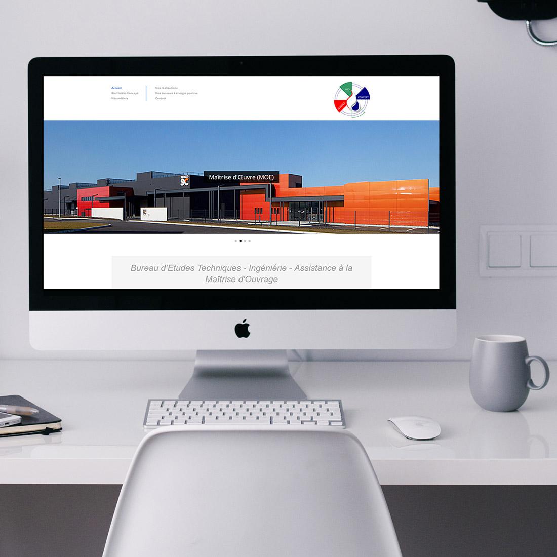 Conception site web Wordpress Bio Fluides Concept