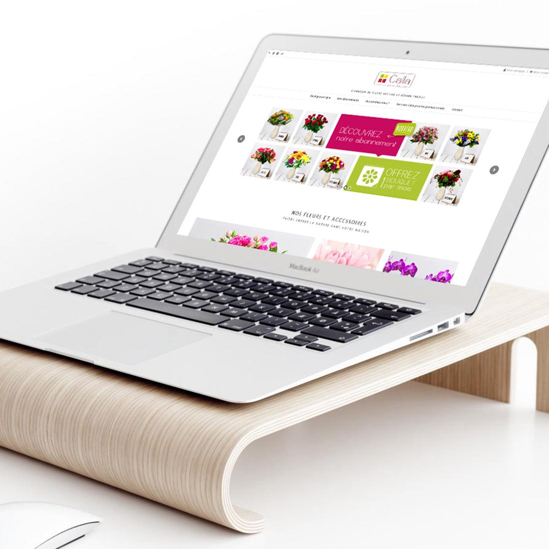 Création site e-commerce achat de fleurs en ligne
