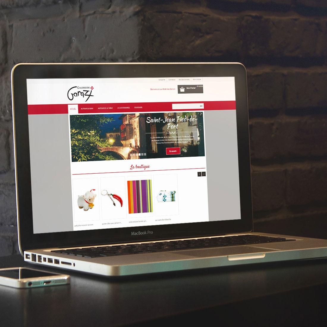 Galeries de Garazi : Création du site e-commerce